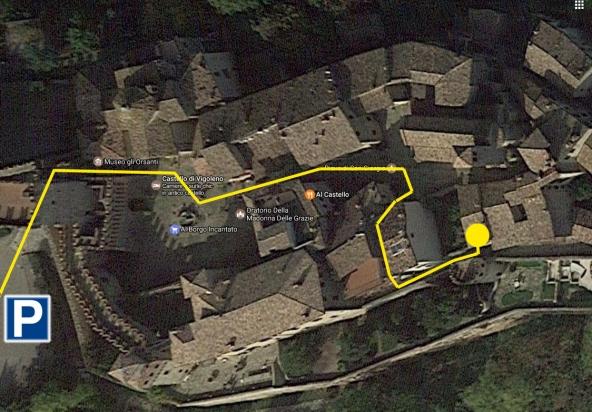 Mappa - Castello Vigoleno - Mostra Spazio Borgo delle Arti
