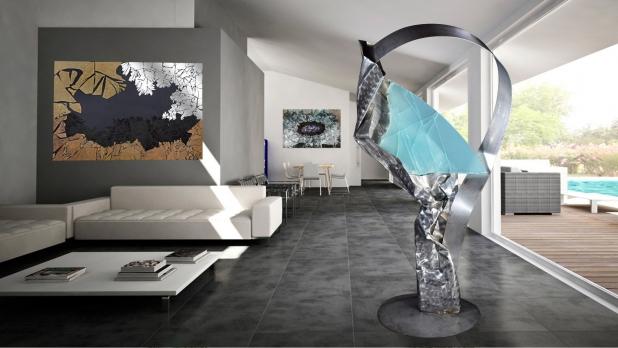 """""""Non forzare"""", 2017 - acciaio, cristallo multistrato, 90x173x65 cm"""