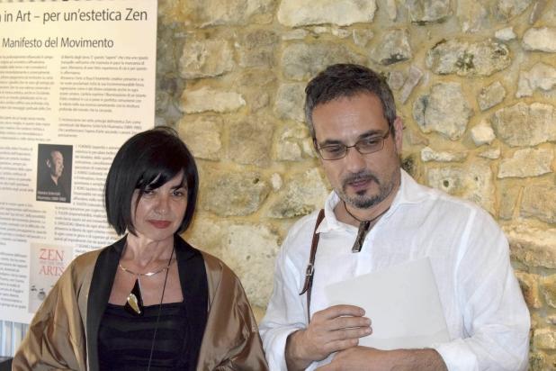 l'artista Franca Franchi e il gallerista Marco Rossini