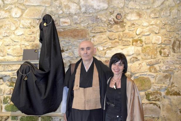 il maestro Zen Fausto Taieten Guareschi e l'artista Franca Franchi