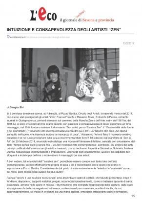 L'Eco di Savona e provincia 13/2/2017- pagina 1 di 2